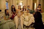 PRINCESS ANNE-HELENE D'ARENBERG; ANNE ANNA HESKETH; VIOLET HESKETH. ENYAT YOUNES. The 2008 Crillon Debutante Ball. Getting Ready the Day before. Crillon Hotel. Paris. 29 November 2008. *** Local Caption *** -DO NOT ARCHIVE-© Copyright Photograph by Dafydd Jones. 248 Clapham Rd. London SW9 0PZ. Tel 0207 820 0771. www.dafjones.com.