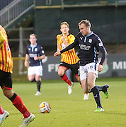 Dundee's David Clarkson runs at the Partick Thistle defence - Partick Thistle v Dundee - SPFL Premiership at Dens Park<br /> <br />  - &copy; David Young - www.davidyoungphoto.co.uk - email: davidyoungphoto@gmail.com