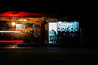 Java, Jakarta. Kemang Raya. An night-open restaurant in the busy Kemang district in south Jakarta.
