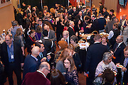 Looking down on the lobby during the start of the 10th SOPAC Gala event.