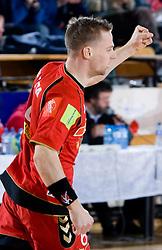 Peter Bozic of Slovan  during the 1/ 8 Men's European Handball Challenge Cup match between RD Slovan, Slovenia and Ystads IF, Sweden, on February 21, 2009 in Arena Kodeljevo, Ljubljana, Slovenia. Slovan defeated Ystads 37-27 and qualified to quarterfinals. (Photo by Vid Ponikvar / Sportida)