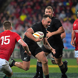 Israel Dagg in action during the 2017 DHL Lions Series 2nd test rugby match between the NZ All Blacks and British & Irish Lions at Westpac Stadium in Wellington, New Zealand on Saturday, 1 July 2017. Photo: Dave Lintott / lintottphoto.co.nz