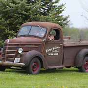 A 1938 International truck on historic U.S. Route 66. The Mother Road starts in Chicago traveling through 6 states and ending in Santa Monica, California.<br /> Photography by Jose More