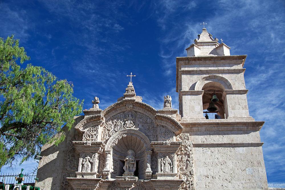 South America, Peru, Arequipa. San Juan de Yanahuara Church in Arequipa.