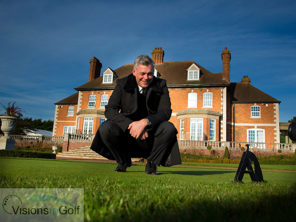 Darren Clarke at Astbury Hall GC with Ken KK Downing<br /> Picture Credit:  Mark Newcombe / www.visionsingolf.com
