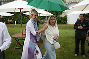 TANIA BRYER AND LESLEY KING-LEWIS, Cartier Style et Luxe lunch. Goodwood.  24 June 2007.  -DO NOT ARCHIVE-© Copyright Photograph by Dafydd Jones. 248 Clapham Rd. London SW9 0PZ. Tel 0207 820 0771. www.dafjones.com.