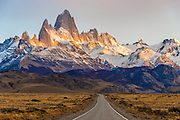 The Road to Mount Fitz Roy Patagonia Argentina at Sunrise