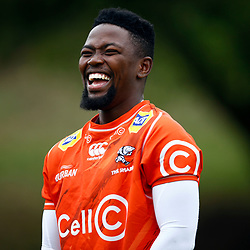 Sanele Nohamba of the Cell C Sharks during the Cell C Sharks training session from theBox Hill Rugby Union Football Club  RHL Sparks Reserve, Canterbury Rd & Middleborough Road, Box Hill VIC 3128. Melbourne,Australia 20 February 2020. (Photo Steve Haag Sports -Hollywoodbets)