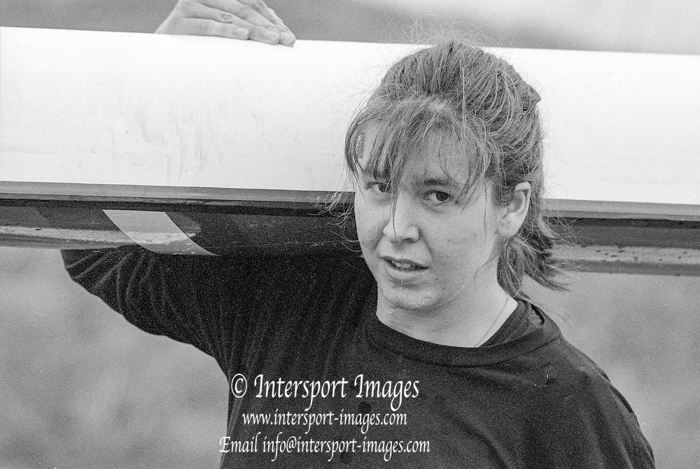 Staines, GREAT BRITAIN,   <br /> Fiona JOHNSON.<br /> British Rowing Women's Heavy Weight Assessment. Thorpe Park. Sunday 21.02.1988,<br /> <br /> [Mandatory Credit, Peter Spurrier / Intersport-images] 1987 GBR Women's H/Weight Assesment Thorpe Park, Surrey.UK