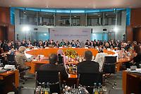 05 MAY 2013, BERLIN/GERMANY:<br /> Angela Merkel, CDU, Bundeskanzlerin, haelt eine Begruessungsrede, 1. Internationales Deutschlandforum, Internationaler KOnferenzsaal, Bundeskanzleramt<br /> IMAGE: 20130605-02-004<br /> KEYWORDS: Übersicht, Uebersicht