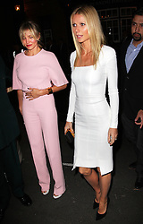 Cameron Diaz and Gwyneth Paltrow arriving for the President Obama fundraising dinner hosted by Anna Wintour in London, Wednesday, 19th September 2012. Photo by: Stephen Lock / i-Images
