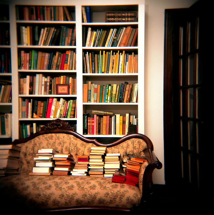 Southern writer Eudora Welty's bookshelf in the living room of her Jackson, Mississippi home boasted a wide range of fiction and non-fiction.