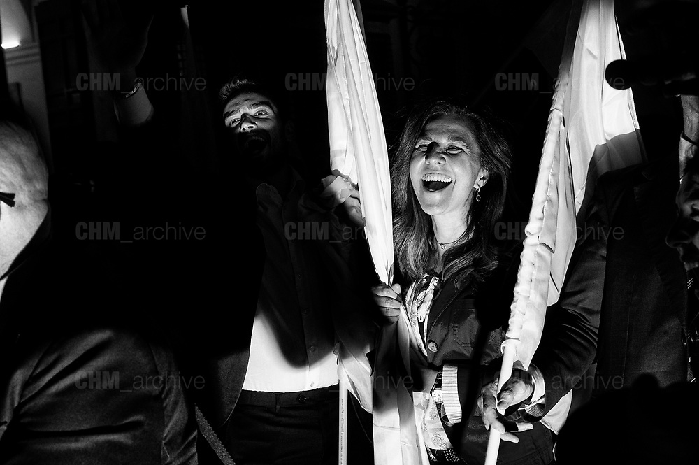 5-star movement members celebrate after the presentation of the budget targets during the council of ministers at Palazzo Chigi on September 27, 2018 in Rome. Christian Mantuano / Oneshot