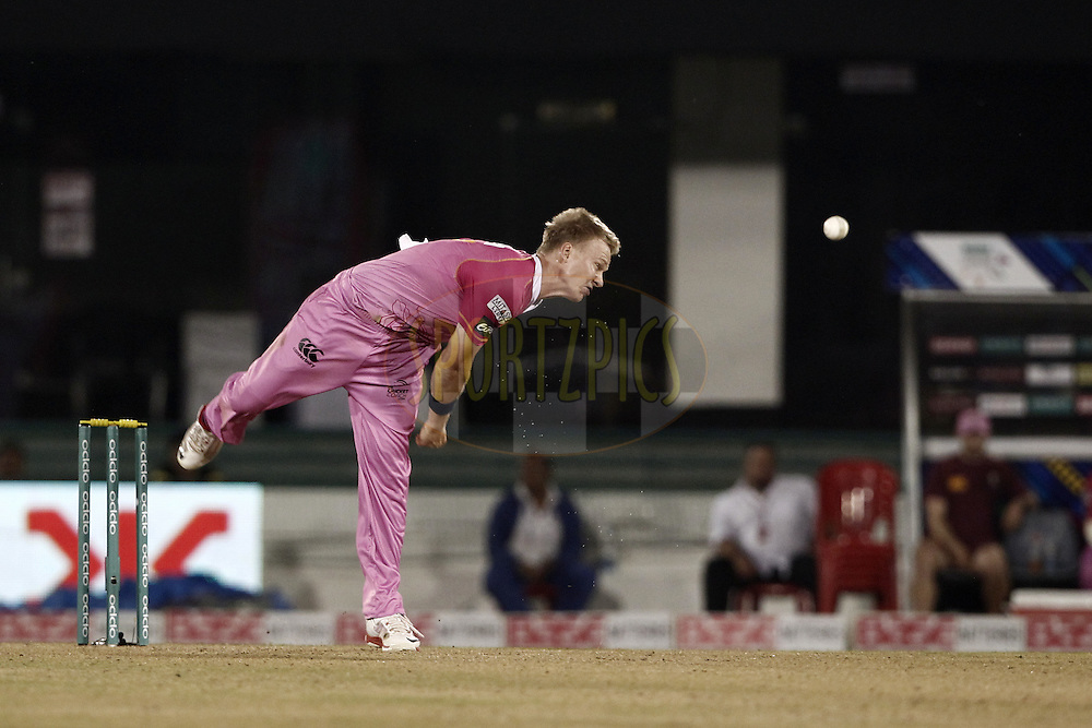 Scott Kuggeleijn of the NORTHERN KNIGHTS during match 3 of the Oppo Champions League Twenty20 between the Cape Cobras and the Northern Knights held at the Chhattisgarh International Cricket Stadium, Raipur, India on the 19th September 2014<br /> <br /> Photo by:  Deepak Malik / Sportzpics/ CLT20<br /> <br /> <br /> Image use is subject to the terms and conditions as laid out by the BCCI/ CLT20.  The terms and conditions can be downloaded here:<br /> <br /> http://sportzpics.photoshelter.com/gallery/CLT20-Image-Terms-and-Conditions-2014/G0000IfNJn535VPU/C0000QhhKadWcjYs