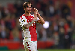 17-09-2015 NED: UEFA Europa League AFC Ajax - Celtic FC, Amsterdam<br /> Ajax heeft in zijn eerste duel in de Europa League thuis moeizaam met 2-2 gelijkgespeeld tegen Celtic / Mitchell Dijks #35