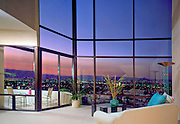 Penthouse living room, sunset city view, Residential, Interior, Design, lifestyle, room, interior, trendy, residence, home, house,