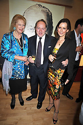 Left to right, LADY ANTONIA FRASER, ANDREW ROBERTS and his wife SUSAN at the launch of the Imperial War Museum's 70th anniversary commemorating the outbreak of World War 11 held at the Cabinet War Rooms, Whitehall, London on 2nd September 2009.