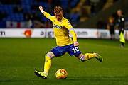 Leeds United midfielder Ezgjan Alioski (10) in action  during the EFL Sky Bet Championship match between Bolton Wanderers and Leeds United at the Macron Stadium, Bolton, England on 15 December 2018.
