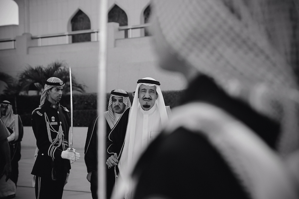 King Salman Bin Abdulaziz Al-Saud (prince at the time.) Jeddah Airport, Saudi Arabia. October 2013.