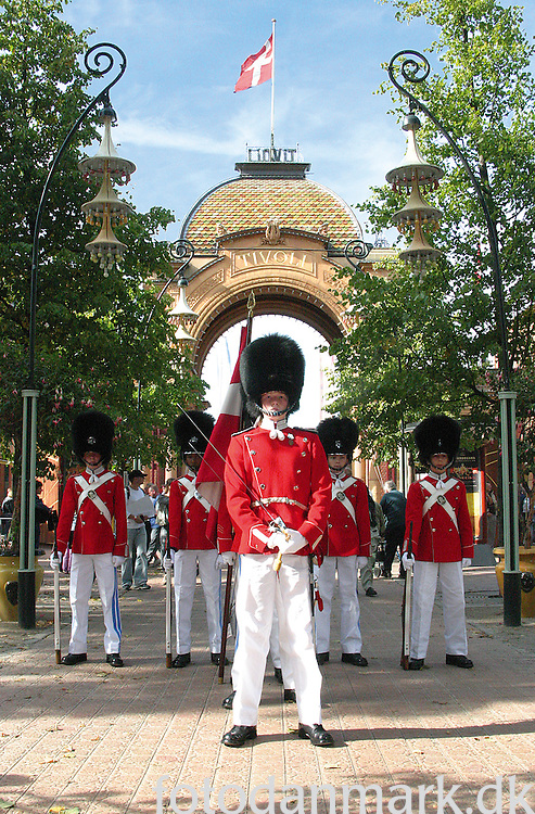 The Tivoli Boys Guard was founded in 1844 and gives concerts, makes parades, stand guard at the garden's buildings and monuments at special occasions. They retire at the age of 16. The Tivoli Garden was founded i 1843, and at that time is was located just outside the city wall of Copenhagen. Now a days it is located down town Copenhagen, and it is the place to have fun, eat, listen to music and relax.
