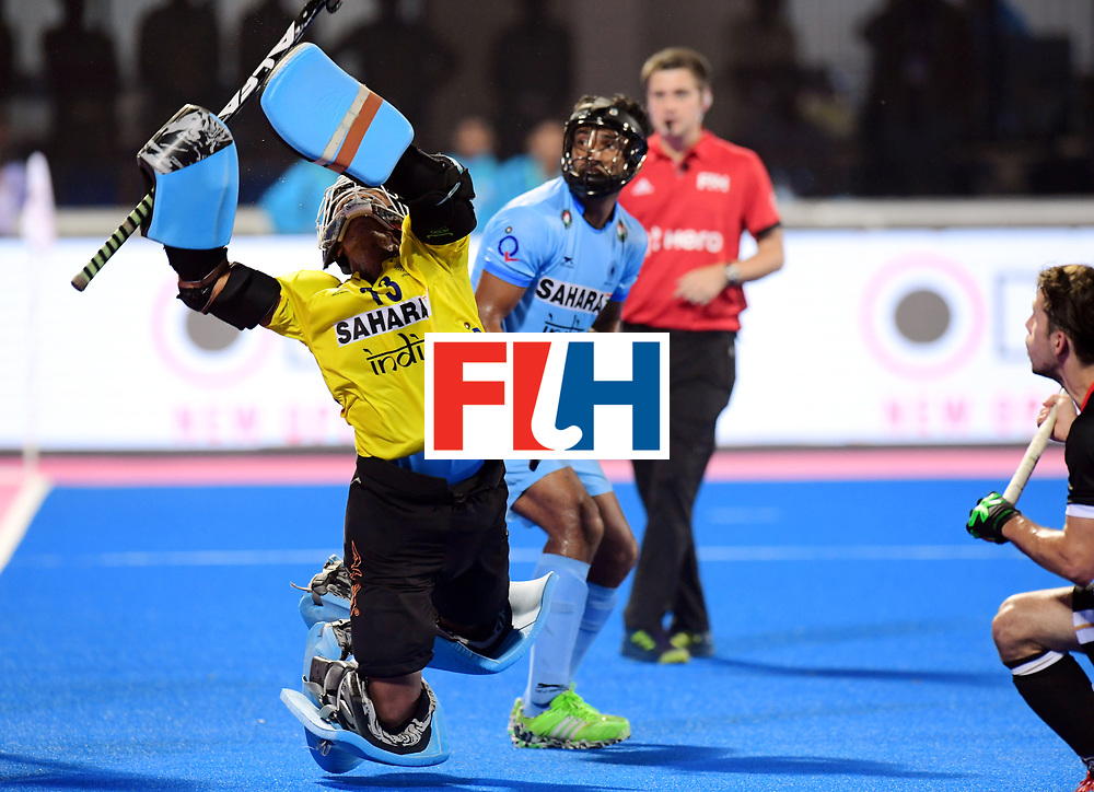 Odisha Men's Hockey World League Final Bhubaneswar 2017<br /> Match id:21<br /> India v Germany<br /> Foto: keeper Suraj Karkera (Ind) <br /> COPYRIGHT WORLDSPORTPICS FRANK UIJLENBROEK