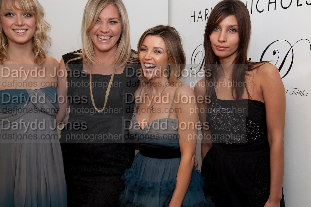 BRIA HORNE; TABITHA SOMERSET WEBB; DANNII MINOGUE; ELODIE BONIS , Tea party in celebration of Project D by Dannii and Tabitha at Harvey Nicholls. Knightsbridge. London. 26 October 2010.  ( This is the launch of a fragrance by Dannii Minogue and Tabitha Somerset Webb ..) and -DO NOT ARCHIVE-© Copyright Photograph by Dafydd Jones. 248 Clapham Rd. London SW9 0PZ. Tel 0207 820 0771. www.dafjones.com.