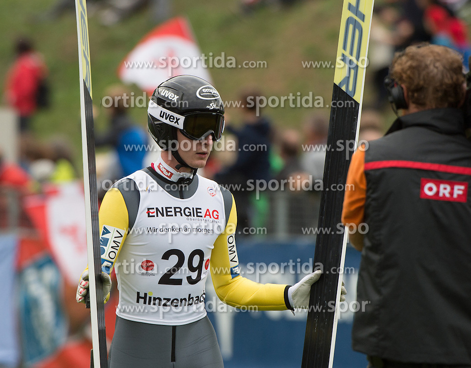 26.09.2015, Energie AG Skisprung Arena, Hinzenbach, AUT, FIS Ski Sprung, Sommer Grand Prix, Hinzenbach, Training, im Bild Markus Schiffner (AUT) during FIS Ski Jumping Summer Grand Prix Trainingsession, at the Energie AG Skisprung Arena, Hinzenbach, Austria on 2015/09/26. EXPA Pictures © 2015, PhotoCredit: EXPA/ Reinhard Eisenbauer