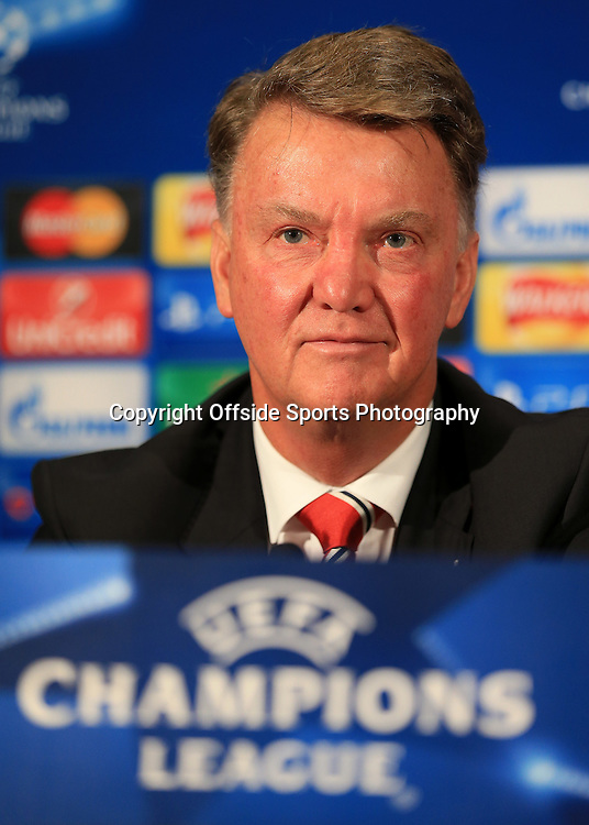29th September 2015 - UEFA Champions League - Group B - Manchester United Press Conference - Man Utd manager Louis van Gaal - Photo: Simon Stacpoole / Offside.