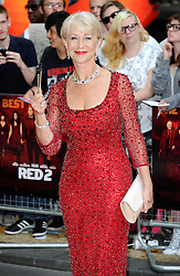 Red 2 UK film premiere.<br /> Dame Helen Mirren during the premiere of the sequel to 2010's graphic novel adaption, about a group of retired assassins. <br /> Empire Leicester Square<br /> London, United Kingdom<br /> Monday, 22nd July 2013<br /> Picture by i-Images
