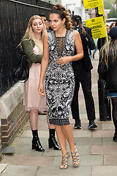 © Licensed to London News Pictures. 17/09/2016.  DOINA CIOBANU arrives for the JULIEN MACDONALD Spring/Summer 2017 show. Models, buyers, celebrities and the stylish descend upon London Fashion Week for the Spring/Summer 2017 clothes collection shows. London, UK. Photo credit: Ray Tang/LNP