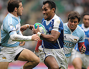 Twickenham, England. Somoa's Uale MAI, during the SAMOE vs ARG match at the London Sevens Rugby, Twickenham Stadium, Sun, 27/05/2007 [Credit Peter Spurrier/ Intersport Images]