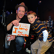 Buffalo Tom's Bill Janovitz with a young fan after the show.
