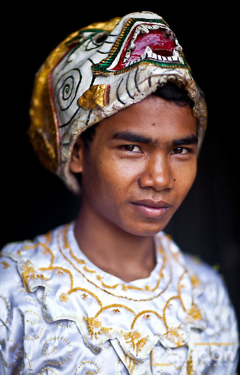 Hanuman, portrayed by Sokphon, a handsome young Cambodian man in Angkor Wat Temple.