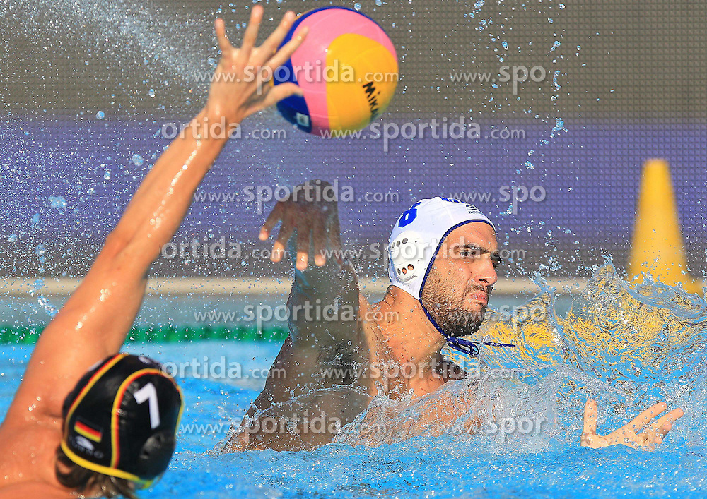 02.09.2010, Zagreb, CRO, LEN European Championship, Water Polo, Men, Greece VS Germany, im Bild Georgios Ntoskas, Erik Bukowski. EXPA Pictures © 2010, PhotoCredit: EXPA/ nph/ Antonio Bronic +++++ ATTENTION - OUT OF GERAMANY / GER +++++