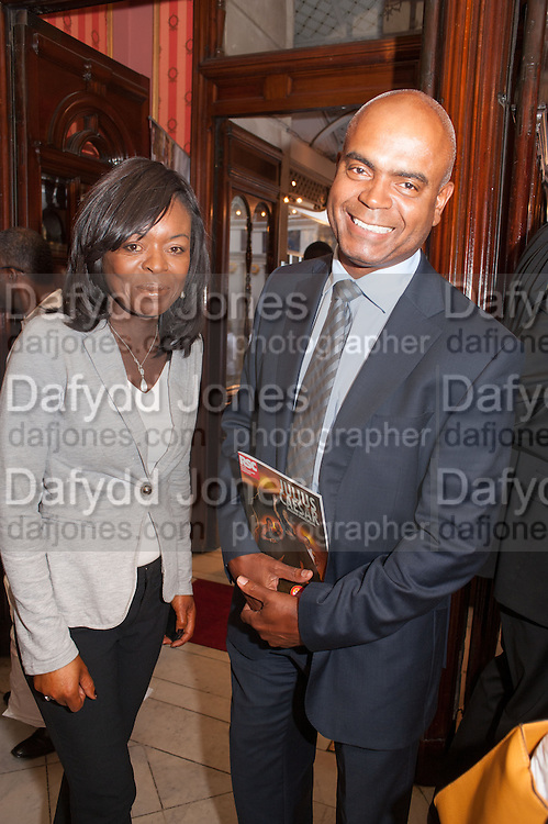 RANKA PHILLIPS; ORIN LEWIS, West End opening of RSC production of Julius Caesar at the Noel Coward Theatre on Saint Martin's Lane. After-party  at Salvador and Amanda, Gt. Newport St. London. 15 August 2012.