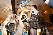 AMBER LE BON; BEN GRIMES; , Unveiling of the Dior Christmas Tree by John Galliano at Claridge's. London. 1 December 2009 *** Local Caption *** -DO NOT ARCHIVE-© Copyright Photograph by Dafydd Jones. 248 Clapham Rd. London SW9 0PZ. Tel 0207 820 0771. www.dafjones.com.<br /> AMBER LE BON; BEN GRIMES; , Unveiling of the Dior Christmas Tree by John Galliano at Claridge's. London. 1 December 2009