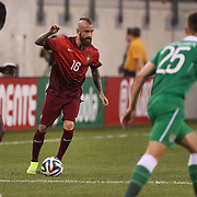 Raul Meireles, Portugal, in action during the Portugal V Ireland International Friendly match in preparation for the 2014 FIFA World Cup in Brazil. MetLife Stadium, Rutherford, New Jersey, USA. 10th June 2014. Photo Tim Clayton