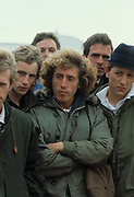 Roger Daltrey and cast on the set of Quadophenia Brighton 1979