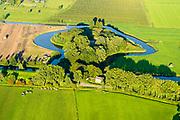 Nederland, Utrecht, Houten, 23-08-2016; Stelling van Honswijk, Lek-acces, onderdeel van de Hollandse waterlinie. Bestaande onder andere Lunet aan De Snel (voorgrond), Inundatiekanaal en het torenfort Fort Honswijk (buiten beeld) aan de oevers van rivier de Lek.<br /> Fort Honswijk, strategically located at river Lek (near Utrecht), part of the New Dutch Waterline. <br /> aerial photo (additional fee required); <br /> luchtfoto (toeslag op standard tarieven);<br /> copyright foto/photo Siebe Swart
