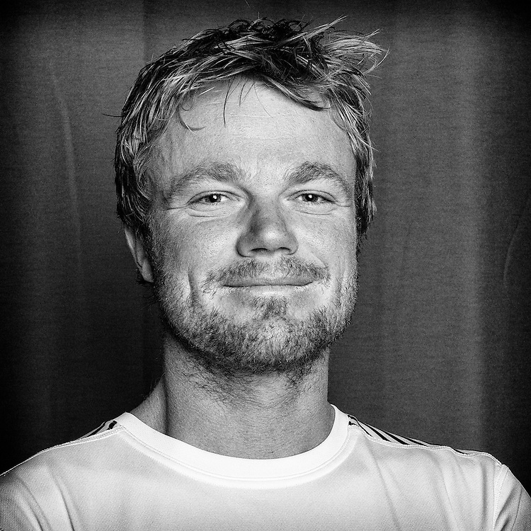 PORTUGAL, Lisbon. 31st May 2012. Volvo Ocean Race, Leg 7 (Miami-Lisbon) finish. Bert Schandevyl, Bowman, Team Sanya.