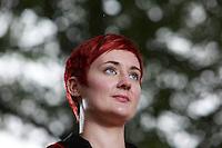 Kirsty Logan.<br /> Edinburgh International Book Festival 2014 photos taken in Charlotte Square Gardens. Edinburgh. Pako Mera 21/08/201