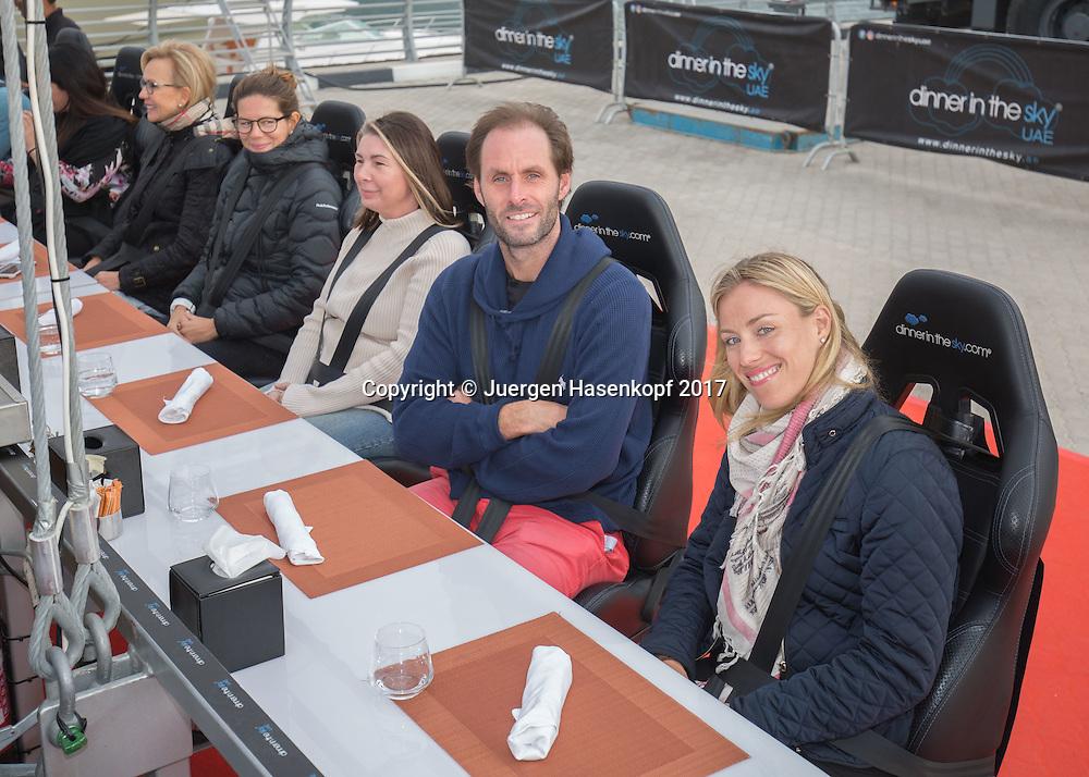 ANGELIQUE KERBER und Trainer Torben Beltz, DINNER IN THE SKY UAE<br /> <br /> Tennis - Dubai Tennis Championships 2017 -  WTA -  Dubai Duty Free Tennis Stadium - Dubai  -  - United Arab Emirates  - 20 February 2017.