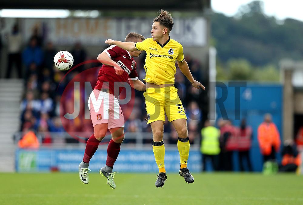 Charlie Colkett of Bristol Rovers heads the ball - Mandatory by-line: Robbie Stephenson/JMP - 01/10/2016 - FOOTBALL - Sixfields Stadium - Northampton, England - Northampton Town v Bristol Rovers - Sky Bet League One