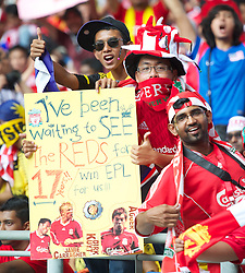 KUALA LUMPUR, MALAYSIA - Saturday, July 16, 2011: Liverpool supporters during the match against a  Malaysia XI at the National Stadium Bukit Jalil in Kuala Lumpur on day six of the club's Asia Tour. (Photo by David Rawcliffe/Propaganda)