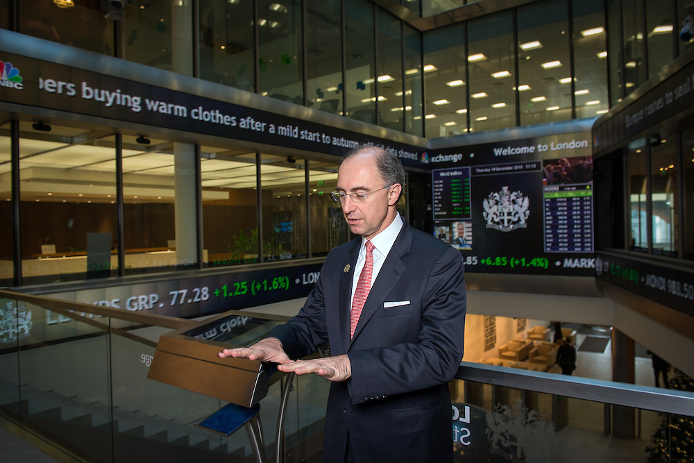 Xavier Rolet, CEO of The London Stock Exchange, photographed inside the Exchange in London, UK.