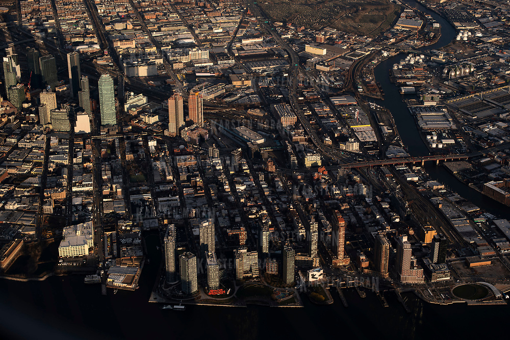 April 8, 2018 - New York, NY : The skyscrapers of Long Island City, in the New York City borough of Queens is seen from the air on Sunday evening, April 8. CREDIT: Karsten Moran / REDUX