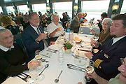 Captain's Dinner...M.S. Johann Strauss, a brand new four star+ river cruiser operated by Austrian River Cruises, and chartered by Club 50 (a travel agency especially for seniors aged 50 and up) undertook an epic 3-week journey (May 21 to June 10, 2004) all the way from Amsterdam to the Black Sea?along Rhine, Main and Danube?, presumably the first passenger vessel ever to have done so. This is one of the images recorded during this historic voyage.