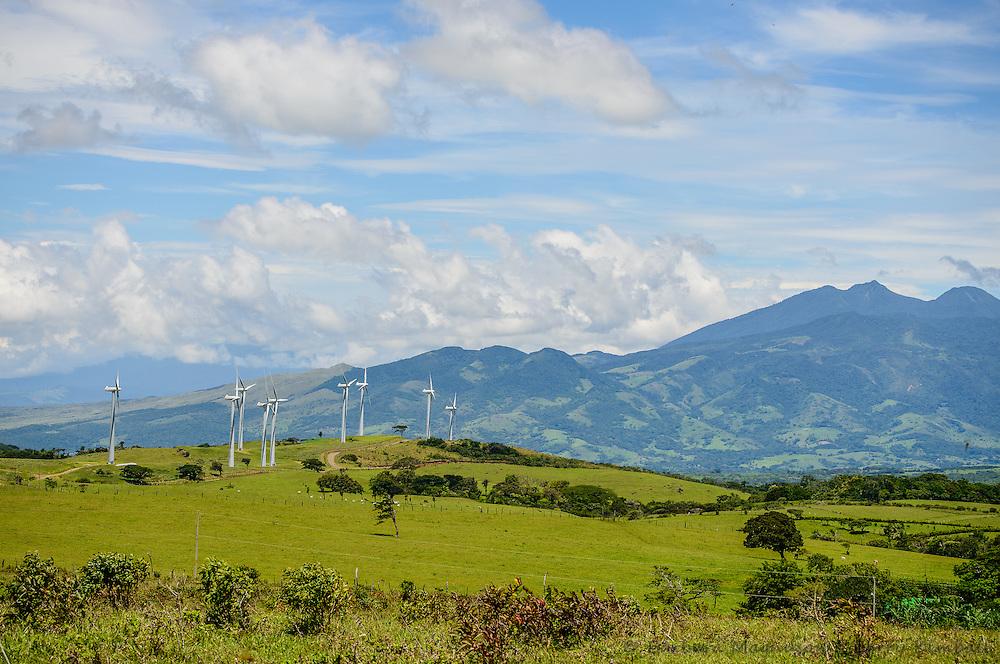 Wind energy towers, Cordillera de Guanacaste, Costa Rica