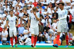 England players look disappointed after conceding the equalising goal 1-1  - Mandatory byline: Matt McNulty/JMP - 07966386802 - 22/05/2016 - FOOTBALL - Etihad Stadium -Manchester,England - England v Turkey - International Friendly