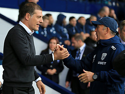 West Bromwich Albion manager Tony Pulis greets West Ham United manager Slaven Bilic - Mandatory by-line: Paul Roberts/JMP - 16/09/2017 - FOOTBALL - The Hawthorns - West Bromwich, England - West Bromwich Albion v West Ham United - Premier League